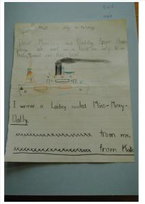 Childs Letter and Picture