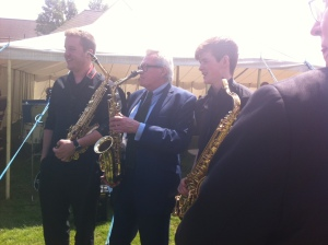 Andy MacKay with Sax