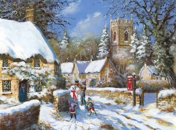 Oak Tree Homes Trust Christmas card 2014 – 'Winter Village'