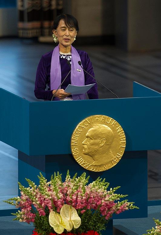 Nobel Peace Prize winner Aung San Suu Kyi