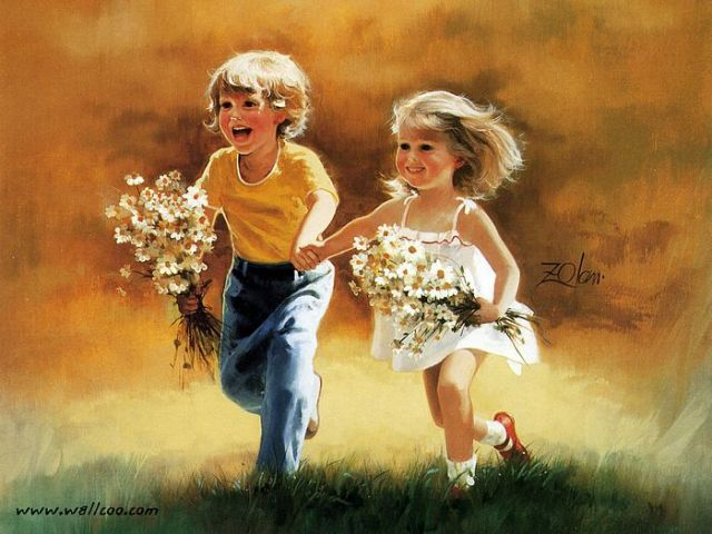 painting_children_childhood_kjb_DonaldZolan_40DozensofDaisies_sm