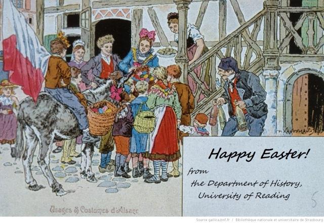 Paul Kauffman, 1902. La quete des oeufs de Paques - collecting the Easter eggs. Bibliotheque national et universitaire de Straboug NIM22686