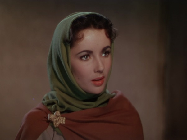 R Rist, Walter Scott Rebecca - for 15.4.16 - Elizabeth Taylor plays Rebecca in the film Ivanhoe (1952).