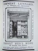 23. advert - Ernest Leonard menswear