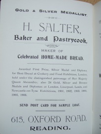 24. advert - H. Salter baker and pastrycook