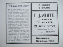28. advert - F. J. White cigar divan
