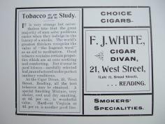 28. advert - F. J. White cigar divan