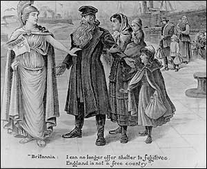 Britannia refuses immigrants, 1905