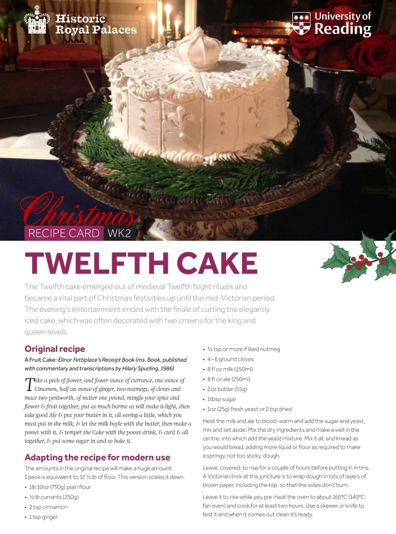 Christmas 2016 twelfth cake reading history our recipes come courtesy of the futurelearn mooc massive online open course a history of royal food and feasting which has been created by the forumfinder Gallery