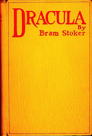 1. First edition cover (imitation) to Bram Stoker's Dracula via Wikimedia