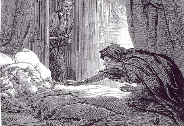 2. Illustration by David Henry Friston to accompany Carmilla (1872) via Wikimedia