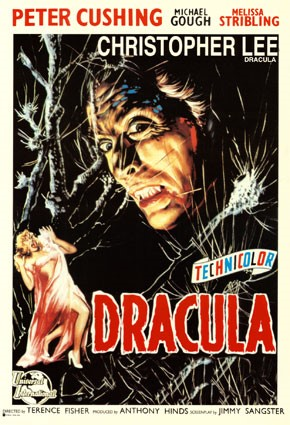 5. Poster advertising Dracula (1958) via Wikimedia