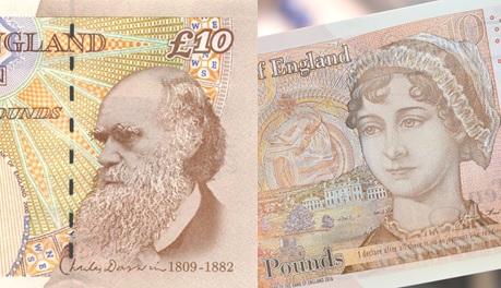 Darwin and Austen £10