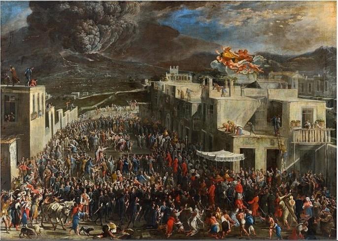 Domenico Gargiulo, The Eurption of Vesuvius in 1631