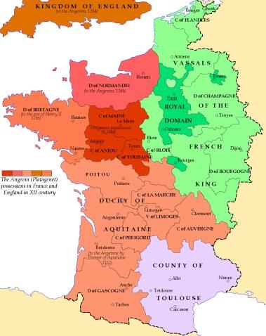 France in 1154 via Wikimedia