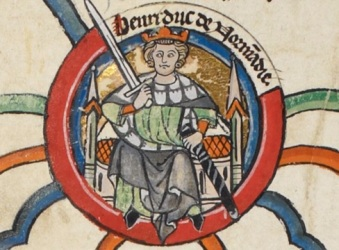 King Henry II of England. British Library, MS. Royal 14 B.vi, membrane 6