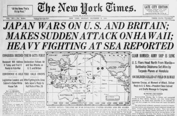 on Japan Declaring War on United States and Britain