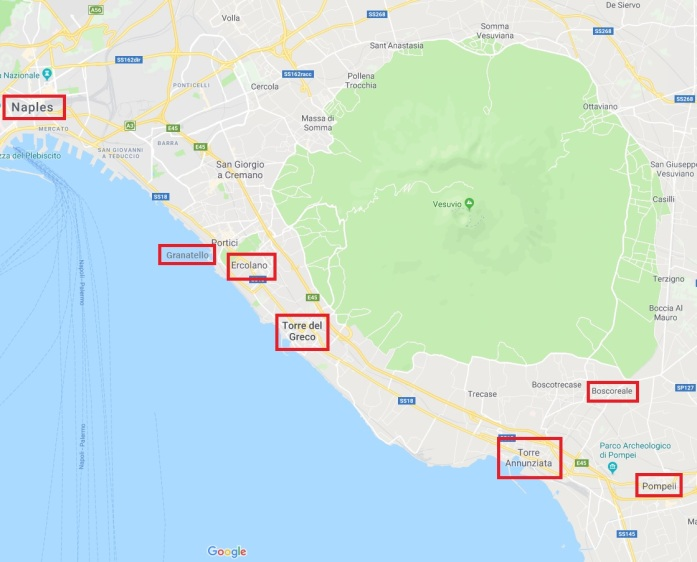 Vesuvius, Google Maps