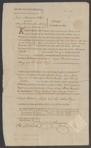 1802 Bill of Sale for 2 Slaves - mother and daughter (Duke)