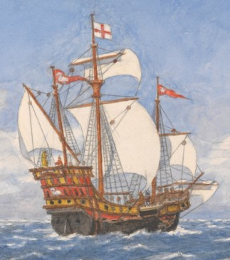 The Golden Hind 'when Drake set off for the Spanish Main', PW7916