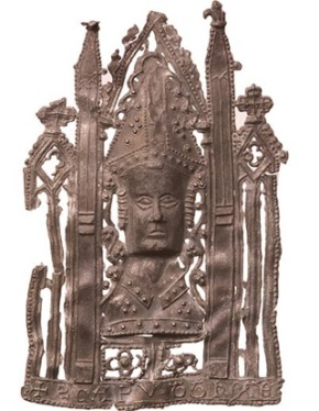 Pilgrim badge of St Thomas Becket (d. 1170), Wikimedia