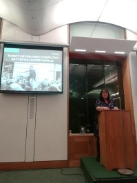 Dr Jacqui Turner delivers the International Women's Day 2019 lecture in Parliament.