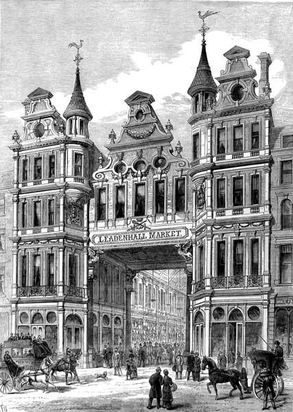 Leadenhall_Market_entrance_Illustrated_London_New_1881